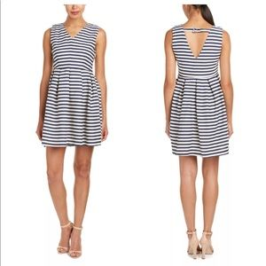 Esley Striped Keyhole Back Dress Fit & Flare
